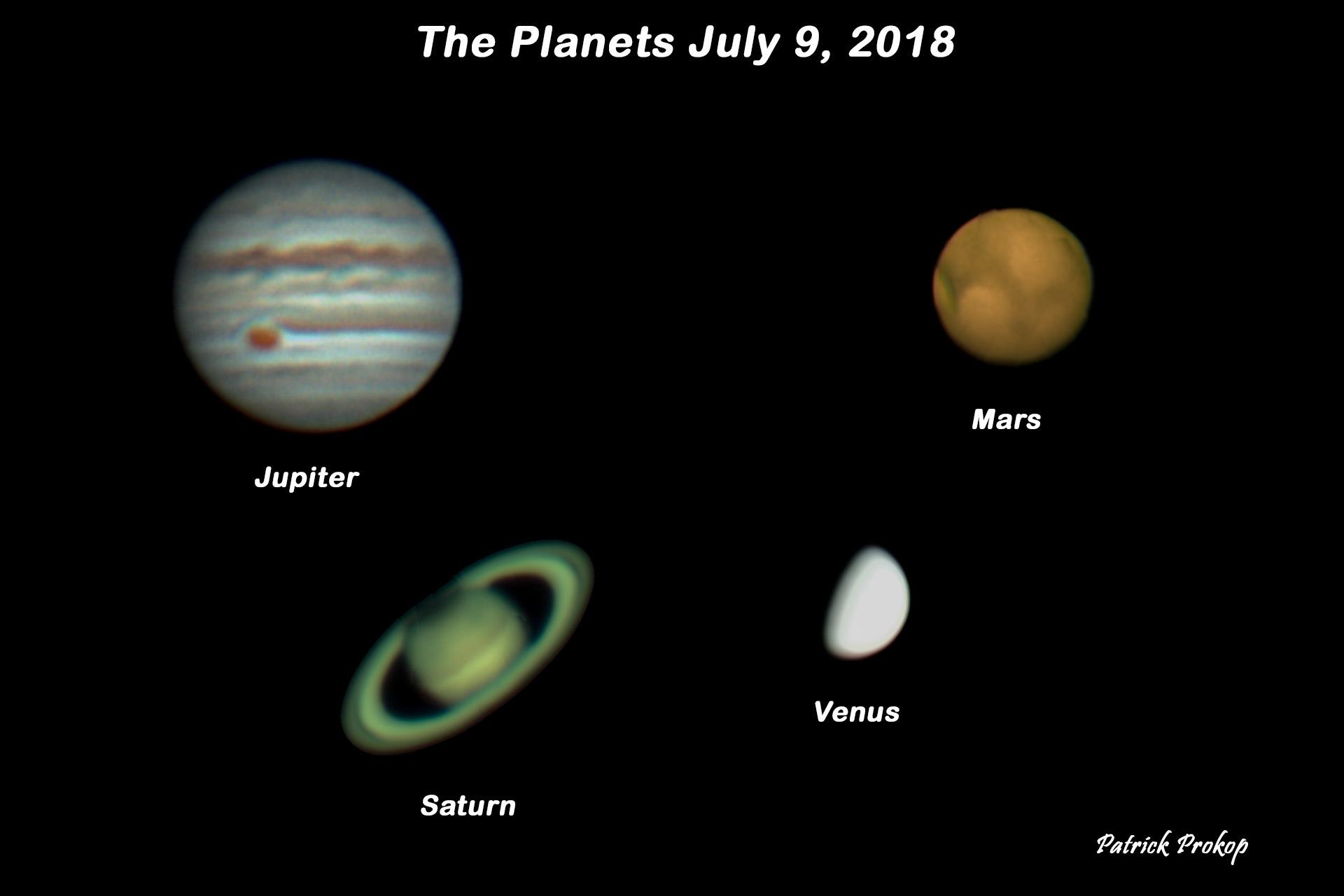 Added: July 9, 2018 ... The Planets The Planets are dominating the  nighttime sky with Venus brilliantly shining in the west at sunset with  dimmer Mercury ...